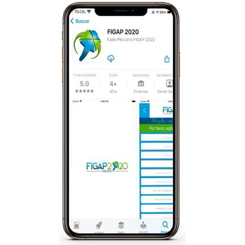 Celular con la aplicación de Figap
